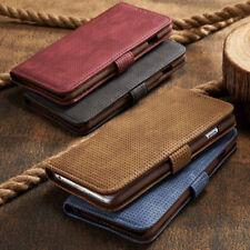 Samsung Galaxy S9 / S9 Plus Hülle Leder Tasche Flip Case Schwarz Rot Braun Blau