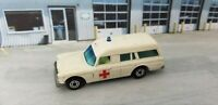 Vintage MATCHBOX Lesney Superfast No3 MERCEDES BENZ Binz Ambulance ENGLAND