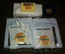 Hershey's Gold Candy Swag 2 Pop Sockets, Charging Station, and Squeeze Ball