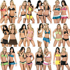 WHOLESALE LOT 400 Pcs Womens clothing EXOTIC BIKINI CLUBWEAR RAVE S M L XL