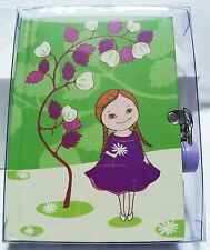 Secret Garden Diary - 192 Lined Pages - Colored Padlock