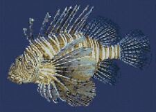 "Lion Fish Marine Aquarium Fish Counted Cross Stitch Kit 12"" x 9"" F2344"
