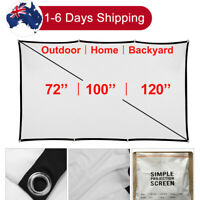 Portable Projector Screen 16:9 Foldable HD Outdoor Home Cinema Theater 3D Movie