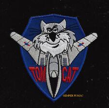 F-14 TOMCAT TRIANGL TOPGUN HAT PATCH PILOT CREW WING GIFT PIN UP CAT QUILT NAVY