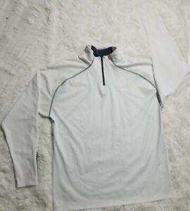 Sun Mountain Golf Mens 1/4 Zip m Thermal Wear white long sleeve shirt