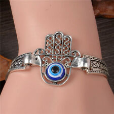 Turkey Blue Evil Eye Palm Glaze Beads Chain Bracelet Jewelry Turkish Fashion