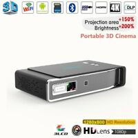 New Android Wifi 3D Home Theater Cinema DLP 4K Full HD 1080p Video Projector 16G