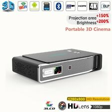 DLP 4K 3D Android Projector Portable 8500LM LED Wifi Full HD 1080P Home Cinema