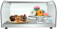 """22"""" Countertop Bakery Display Case with Front Curved Glass and Rear Door"""