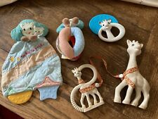 SOPHIE THE GIRAFFE TEETHER SET Baby Teether Toy Bundle Rattle Comforter