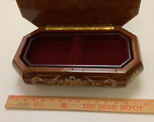 Vintage Swiss Romance Musical Movement By Reuge Made In Italy Jewelry Music Box