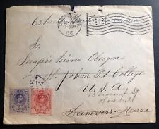 1915 Spain Cover To Danvers MA USA