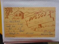 OLD VINTAGE QSL HAM RADIO CARD. WEST COVINA, CALIFORNIA. 1955