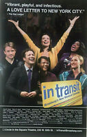 "IN TRANSIT An A Cappella Musical14""x22"" Broadway Window Card"