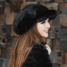 Winter Women Real New Mink Fur Hat Cap Headgear Beanie Beret QS 00031.1
