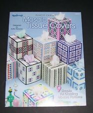 NEEDLECRAFT PLASTIC CANVAS PATTERN LEAFLET BOOK 2003 MOSAIC TISSUE COVERS 844231