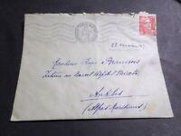 FRANCE CACHET 1949, SEUL LETTRE timbre 812, GANDON, oblitéré VF COVER, LOT C