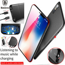 iPhone X Case, Genuine Baseus 3 in 1 Lightning Charger & Audio & Hard Case Cover