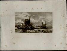 GRAVURE. Ch de Tournemine del. Louis Marcy, St Malo. Grv396