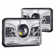 """Pair 4x6"""" Projector LED Headlight Replacement HID Xenon H4651 Peterbilt Kenworth"""
