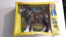Vintage RARE JUSTEN Blue Ribbon Clydesdale Horse  1983 NIB NO.3168A