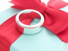 Tiffany & Co Silver Metropolis Men Ring Band Size 6