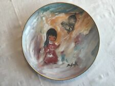 """DeGrazia """"Bell of Hope"""" Antique Limited Edition Collectible Plate"""
