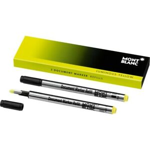 2 Pack Refill Yellow Document Marker Highlighter 105168/Montblanc