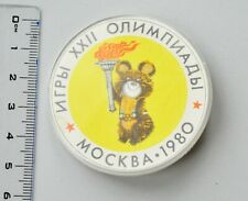 1980 Moscow Russia Summer Olympic Games Official Bear Mascot Misha Pin Badge #2