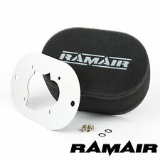 RAMAIR Carb Air Filters With Baseplate Weber 32/34 DMTR 25mm Bolt On