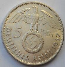 5 Reichsmark 1937 A, Third Reich Germany, Paul von Hindenburg