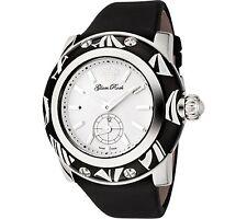NEW Glam Rock GR10504 Smalto Women's Hand Made Black White Watch techno silk