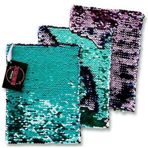 A5 Sequin Two Tone Reversible Notebook - Mermaid