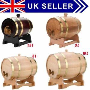 1.5 L/3L/5L/10L Wood Oak Timber Wine Barrel Cask Whiskey Rum Port Wooden Keg