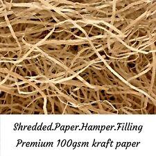 Shredded Brown Paper *5 KG BULK* Natural Kraft Hamper Gift Void Packaging