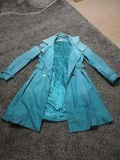 Exquisito Karen Millen Edición Limitada MAC Gabardina Dip Teñidos Verde Aqua Reino Unido 10