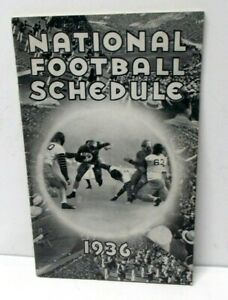 Vintage 1936 National College Football Schedule Booklet