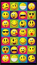 SMILE FACES Beach Bath POOL Emoji Towel KIDS HAPPY FACE COOL toalla de playa