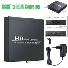 SCART to HDMI Converter SCART + HDMI to HDMI Converter Adapter Supports RGB