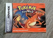 Pokemon FireRed Version Instruction Booklet Only Game Boy Advance Free Ship