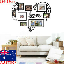AU 7PCS Love Photo Picture Frame Set Collage Black Gallery Wall Home Decor Gift