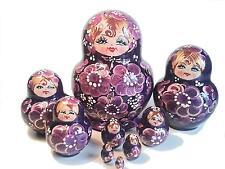 Matrjoschka  babuschka russische Matröschka Holzpuppe puppen nesting doll 10 pc