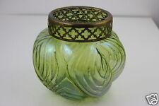 Art Nouveau Loetz Iridescent Art Glass Vase & Flower Arranger 16cm D. x 14cm H.