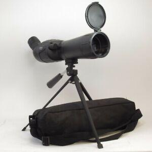 Optus 20-60x60 Spotting Scope Zoom Telescope w/ Compact Tripod & Carry Case