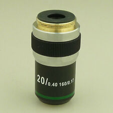 NEW 20X DIN ACHROMATIC MICROSCOPE OBJECTIVE LENS COMPOUND BIOLOGICAL 20x/0.40