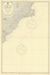 South Island New Zealand Otago coast Dunedin ADMIRALTY sea chart 1953 (1955) map