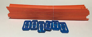Hot Wheels Orange Track Build Lot of 9 Pieces 12 Inch Long -- 6 Connectors