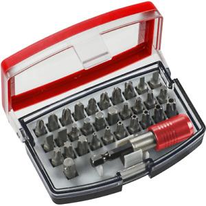 Einhell Kwb Box Kit Box 32 Stück Bits Einsätze zum Verschrauben mit magnetisiert