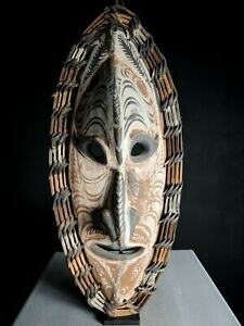 Stunning Old Carved Tambanum Spirit Mask, Iatmul, PNG, Papua New Guinea, Tribal
