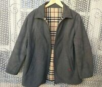 Burberry London Nova Check Mens jacket Wool Coat size 50